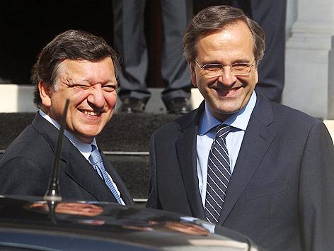 EU-Kommissionspräsident Jose Manuel Barroso und der griechische Regierungschef Antonis Samaras