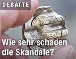 Kaputte Euromünze