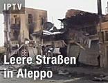Leere Straße in Aleppo