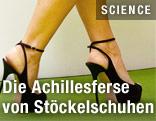 Füße mit Stöckelschuhen