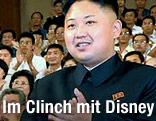 Nordkoreas Machthaber Kim Jong Un applaudiert während der Mickey-Mouse-Show