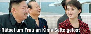 Kim Jong-un mit seiner Ehefrau