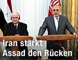 Treffen zwischen dem iranischen Außenminister Ali-Akbar Salehi und dem syrischen Außenminister Walid al-Muallem
