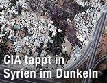 Satellitenbild von Damaskus