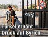 Soldaten vor der türkischen Grenze