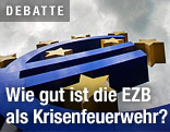 Euro-Skulptur vor dem EZB-Gebäude