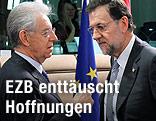 Italiens Premierminister Mario Monti im Gespräch mit dem spanischen Premier Mariano Rajoy