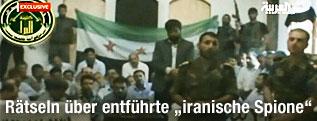 Standbild aus einer angeblichen Videoaufnahme syrischer Rebellen und ihren Geiseln