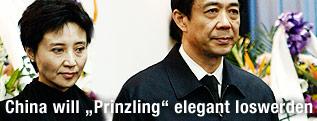 Der gestürzte chinesische Politiker Bo Xilai mit Gattin