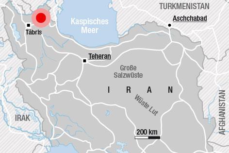 Karte zum Iran