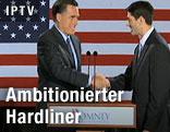 Mitt Romney und Paul Ryan reichen sich die Hand
