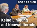 """LH Gerhard Dörfler (FPK), Kurt Scheuch (FPK) und Frank Frey (Grüne) anlässlich eines Parteiengesprächs zum Thema """"Neuwahlen in Kärnten"""""""