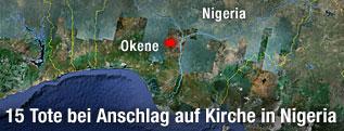 Karte von Nigeria