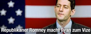 Der Kongressabgeordnete Paul Ryan bei einer Rede