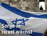 Israelische Fahne in der Altstadt von Jerusalem