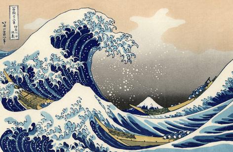 Katsushika Hokusai:  Die große Welle