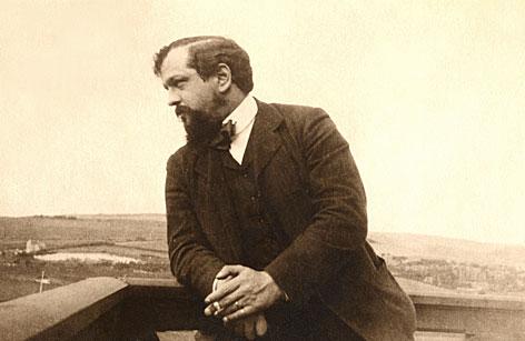 Claude Debussy in  Pourville-sur-Mer (Frankreich) im August 1904