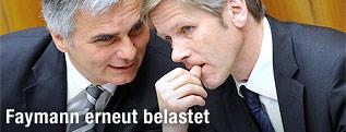 Bundeskanzler Werner Faymann und Staatssekretär Josef Ostermayer