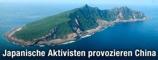 Luftasicht einer Senkaku-Insel