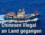 Fischerboot mit chinesischen Aktivisten