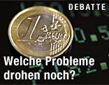 Euromünze für einem Bildschirm