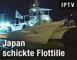 Japanisches Boot im Hafen