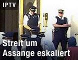Polizei betritt Botschaftsgebäude