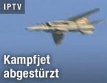Abgeschossener Kampfjet