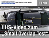 Screenshot eines Crash-Test-Videos eines VW Jetta