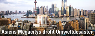 Blick auf die Skyline von Schanghai