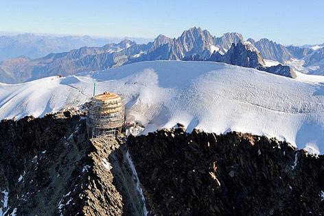 Schutzhütte Dome du Gouter am Mont Blanc