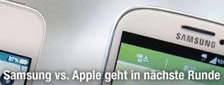 Die Ecke des iPhone 4s von Apple und das Galaxy S III von Samsung