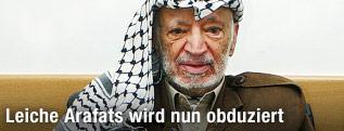 Früherer palästinensischer Präsident Yassir Arafat im Jahr 2004
