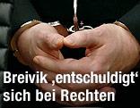 Breivik mit Handschellen