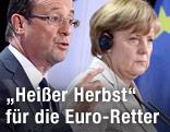 Deutsche Bundeskanzlerin Angela merkel und Französischer Präsident Francois Hollande