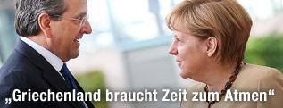 Deutsche Kanzlerin Merkel und griechischer Premier Samaras