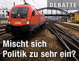 ÖBB-Zug und Bahngleise