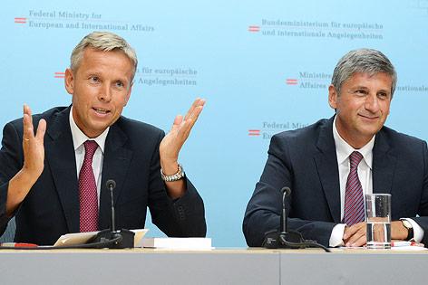 ÖVP-Politiker Reinhold Lopatka und Vizekanzler Michael Spindelegger