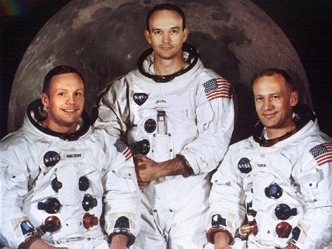 Die Astronauten Neil Armstrong, Michael Collins und Edwin Aldrin (Archivfoto vom Juli 1969)