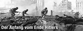 Russische Soldaten in der Schlacht von Stalingrad