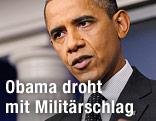 US-Prsäident Obama während einer Rede