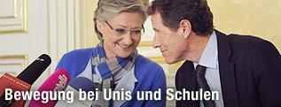 Unterrichtsministerin Claudia Schmied und Wissenschaftsminister Karlheinz Töchterle