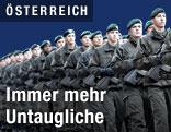 Soldaten bei Angelobung