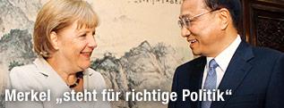 Angela Merkel und der chinesische Vize-Premier Li Keqiang