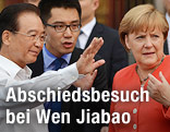 Wen Jiabao und Angela Merkel
