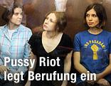 """Mitglieder der Gruppe """"Pussy Riot"""""""