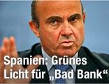 Der spanische Wirtschaftsminister Luis de Guindos