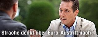 Armin Wolf im Gespräch mit FPÖ-Bundesparteiobmann Heinz-Christian Strache