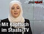 Ägyptische staatliche TV-Sprecherin Fatma Nabil mit Kopftuch
