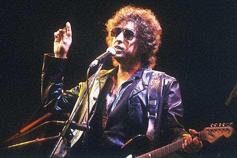 Bob Dylan in einem Konzert im Jahr 1981